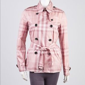 Burberry Brit Pink Trench Coat